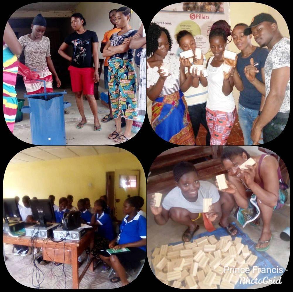 Youth Build girlsin Training