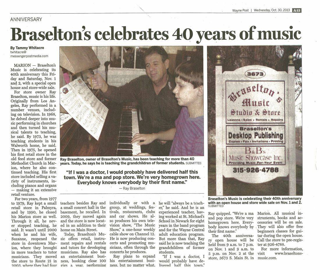 Wayne Post, October 30, 2010, Ray Braselton, Braselton's Music