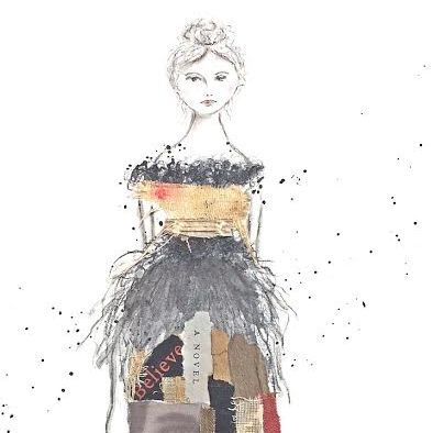 Mixed Media Collage, Believe,  By Barbara Polc; Vintage Book Art; Charcoal Art; Collage Art