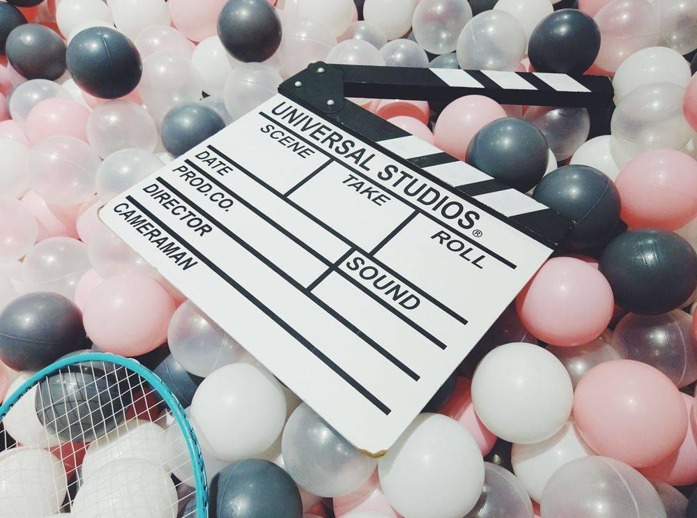 Movie clapper board Universal studios