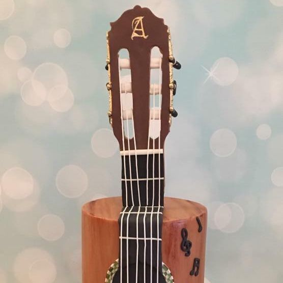 Guitar Birthday Celebration Novelty Cake