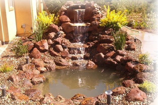 Elk Grove Custom Waterfalls