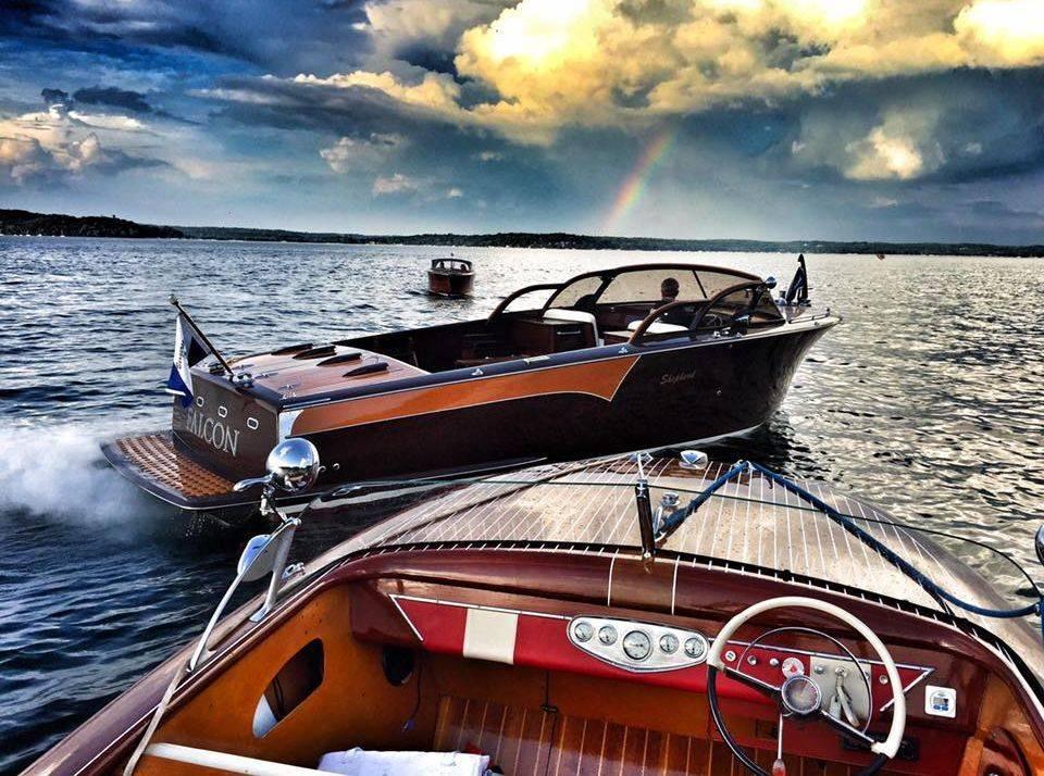 Wood boats on Geneva Lake