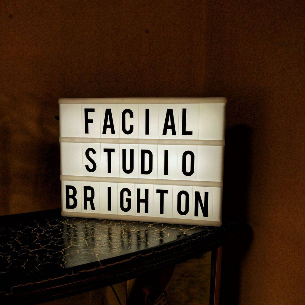 Facial Studio Brighton lit up sign