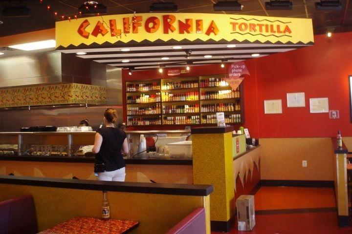 California Tortilla restaurant hot sauce display