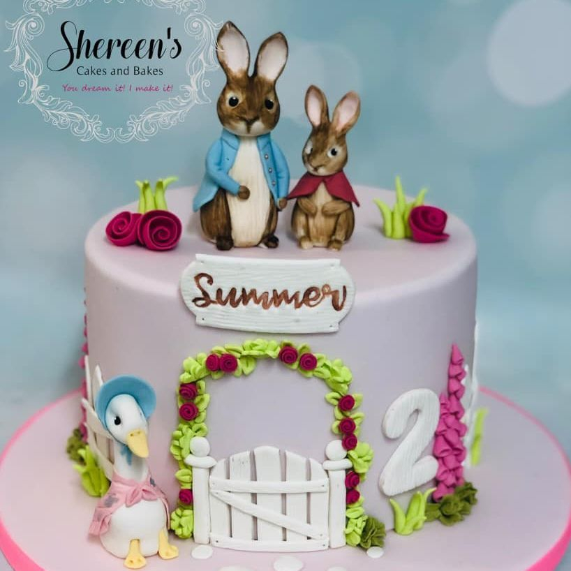 cake birthday peter rabbit jemima puddleduck flopsy bunny cake vintage pretty