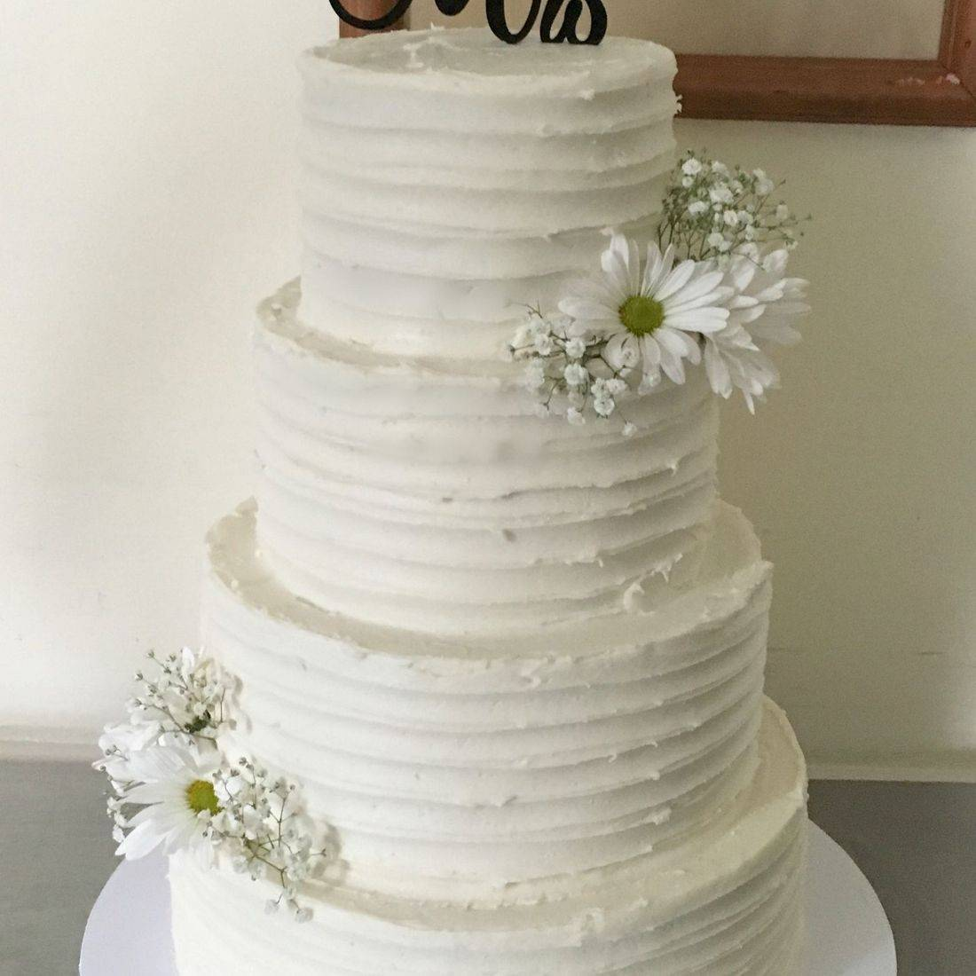 Buttercream Wedding Cake rustic burlap country southern