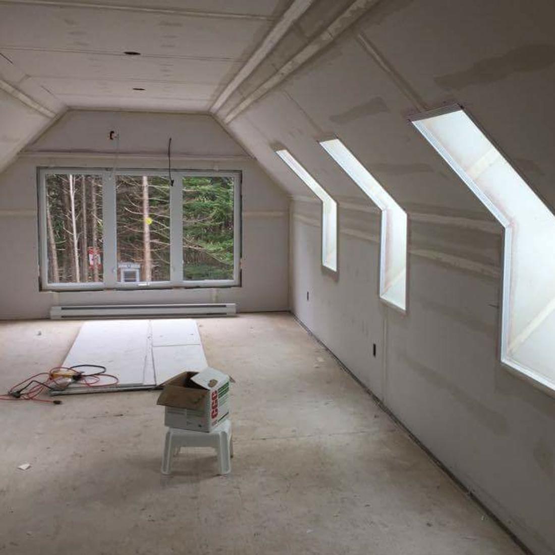 St. John's, NL.  Drywall installation, plastering