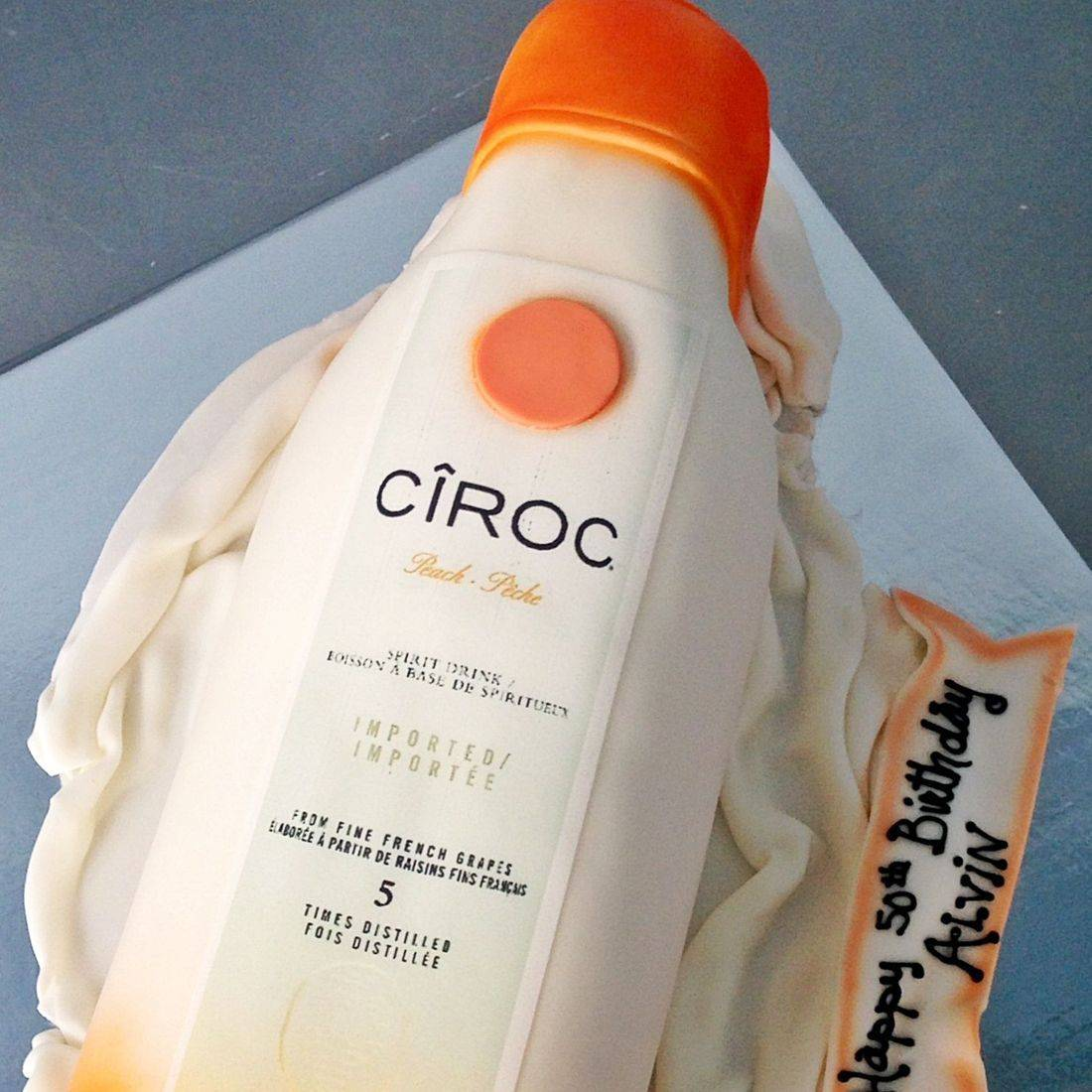 Peach Ciroc Bottle Dimensional Cake Milwaukee