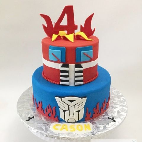 Transformer Optimus Prime Birthday Cake