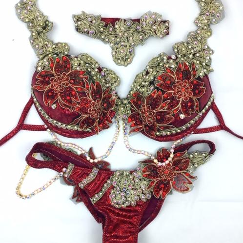 red  WBFF bikini