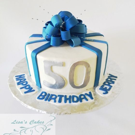 50th Birthday Cake Bow