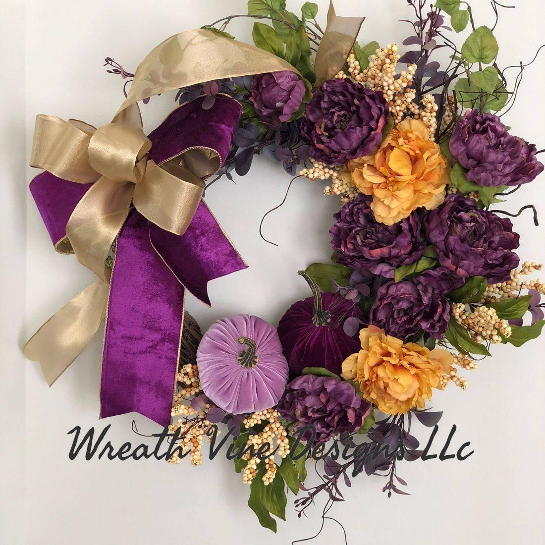 Purple & Gold Wreath