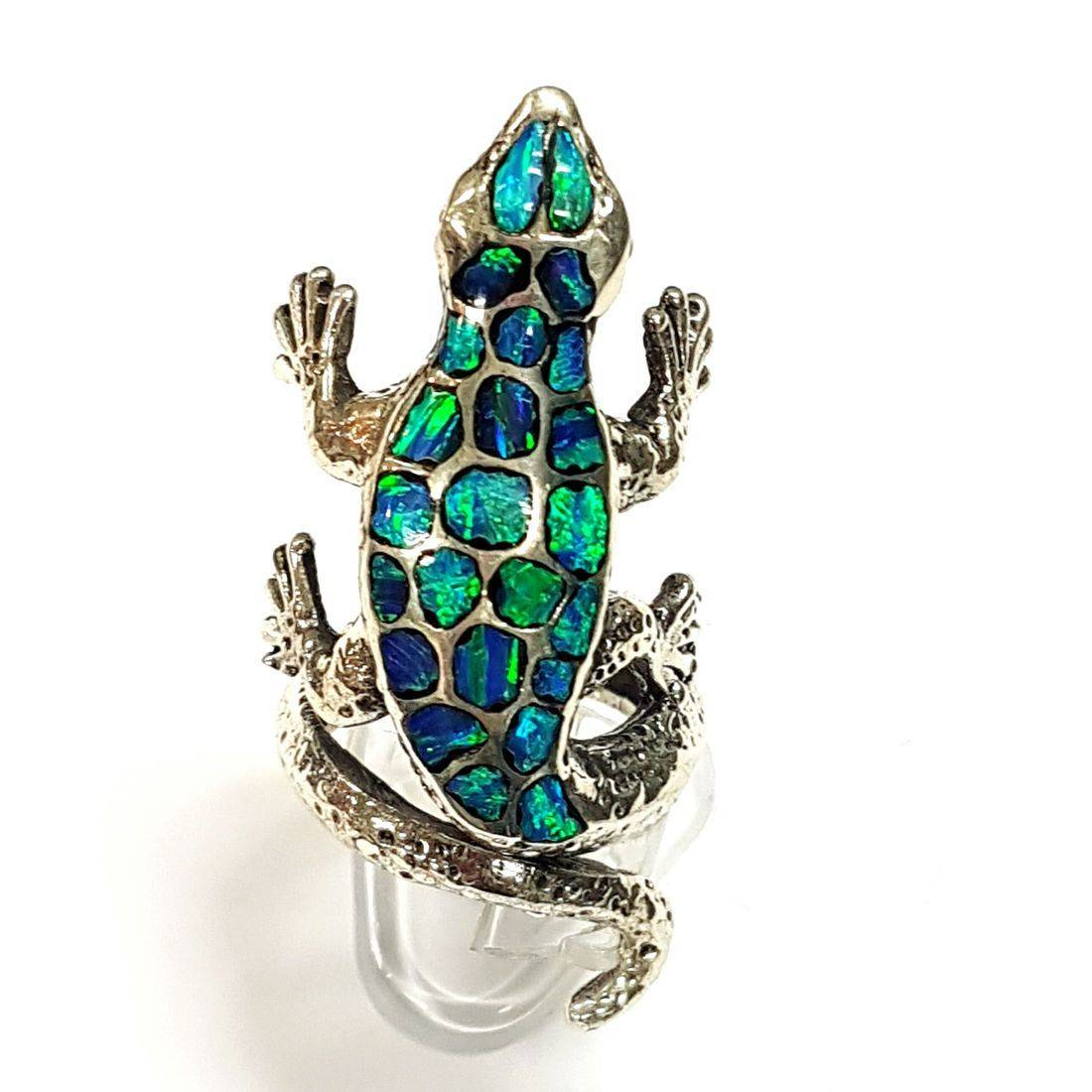 Blue Opal Gecko Ring  available at Kazbah online and our Leicester City Centre shop