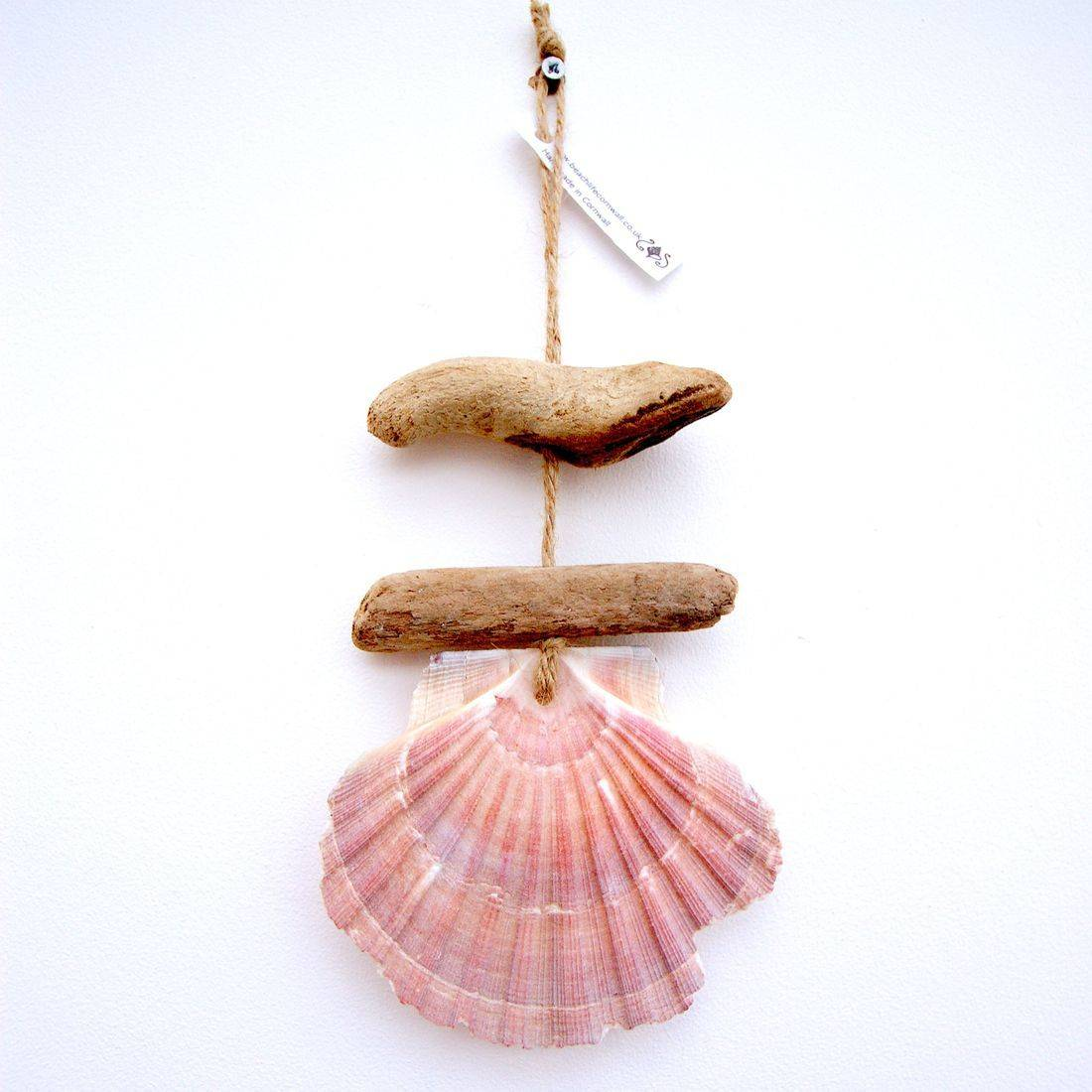 Driftwood and shell mobile 28