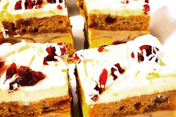 This is Pumpkin Cranberry Stack Cake