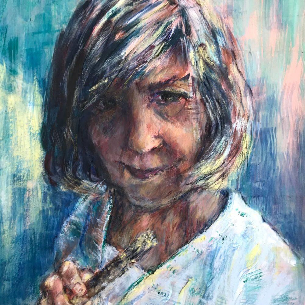 Marcia Kuperberg, artist. Self portrait