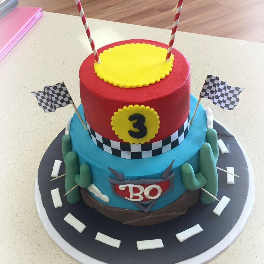 cars birthday cake racing birthday cake