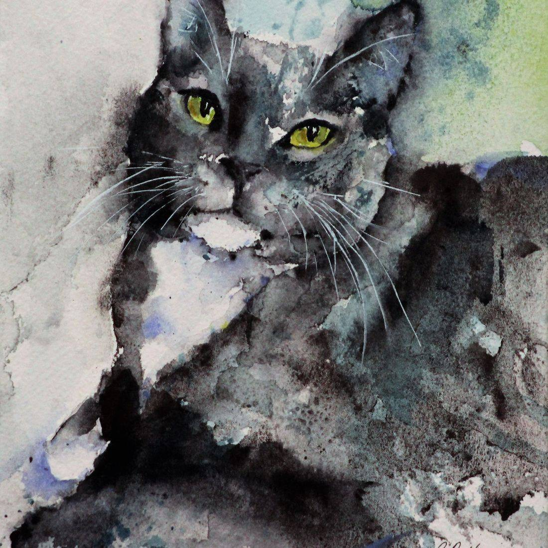 Rebecca Krutsinger pet portrait watercolor painting.