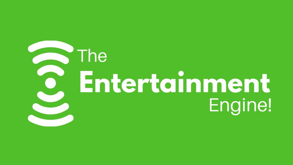 The Entertainment Engine podcast logo, music, film & tv