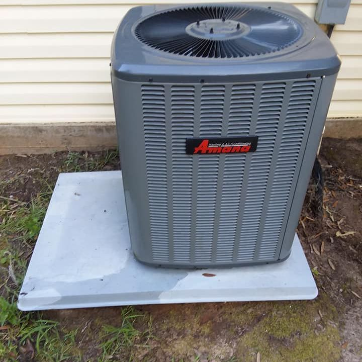Pressure clean an air conditioner