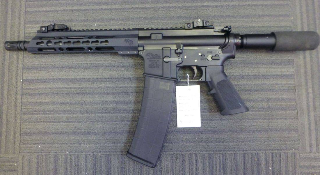Black Semi-Automatic 5.56 Caliber Anderson AM15 Rifle