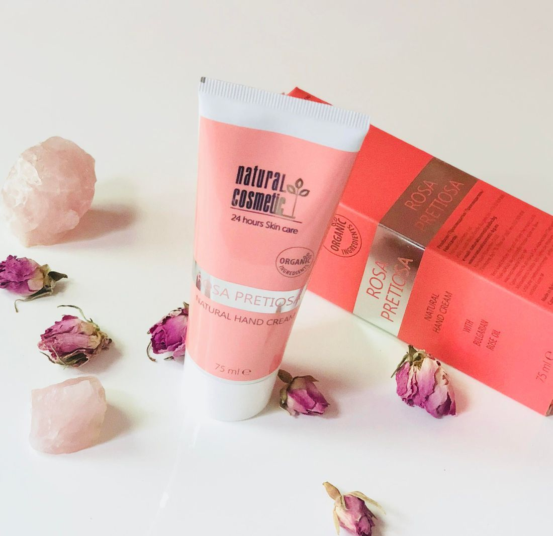 Rosa Pretiosa natural hand cream, rose hand cream, rose oil beauty, rose skincare, non toxic rose skincare, rosepost box shop
