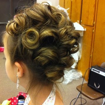 pageant hair- updo with pincurls-stylist in Allen, TX
