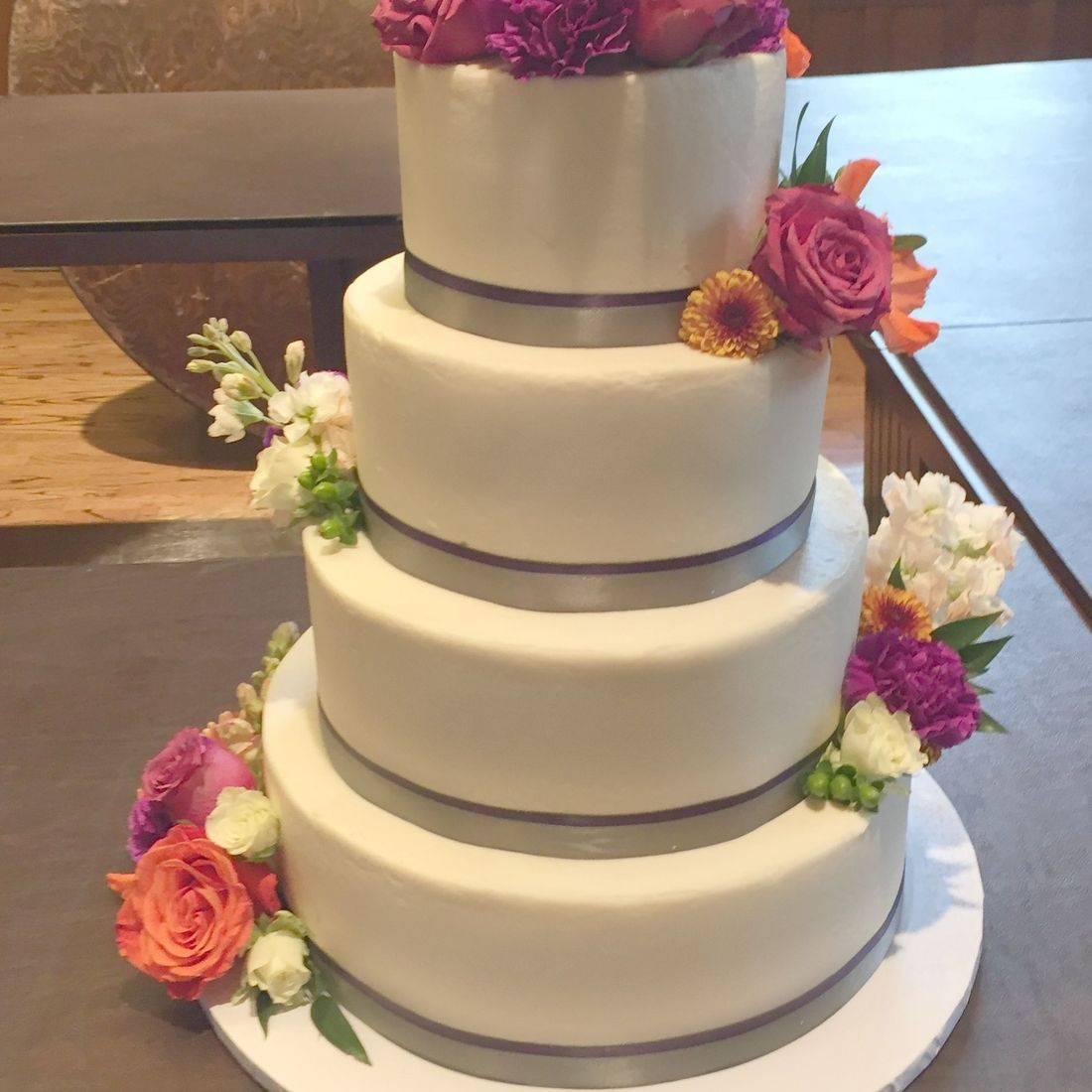 Buttercream Wedding Cake  southern  Chic