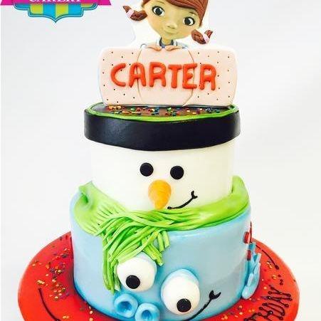 Custom Doc McStuffin snowman Dragon  Cake Milwaukee