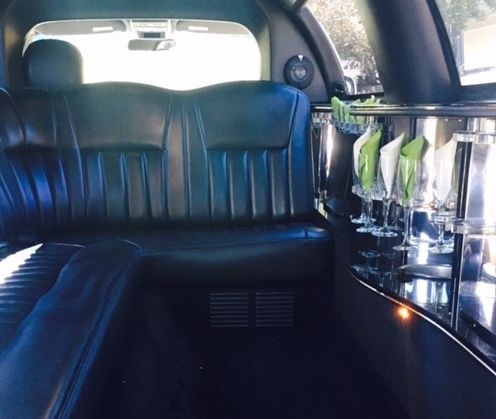 Inside front View of An 8 passenger Limousine.