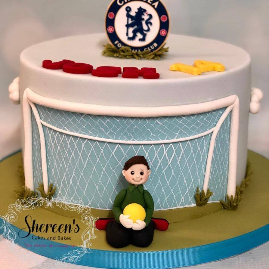 Birthday Cake Football Goalie Goal Soccer