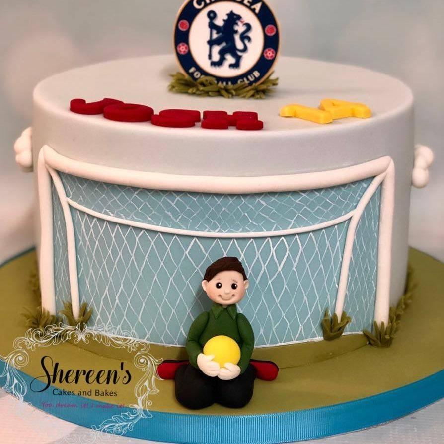 Birthday Cake Football Goalie Goal Soccer