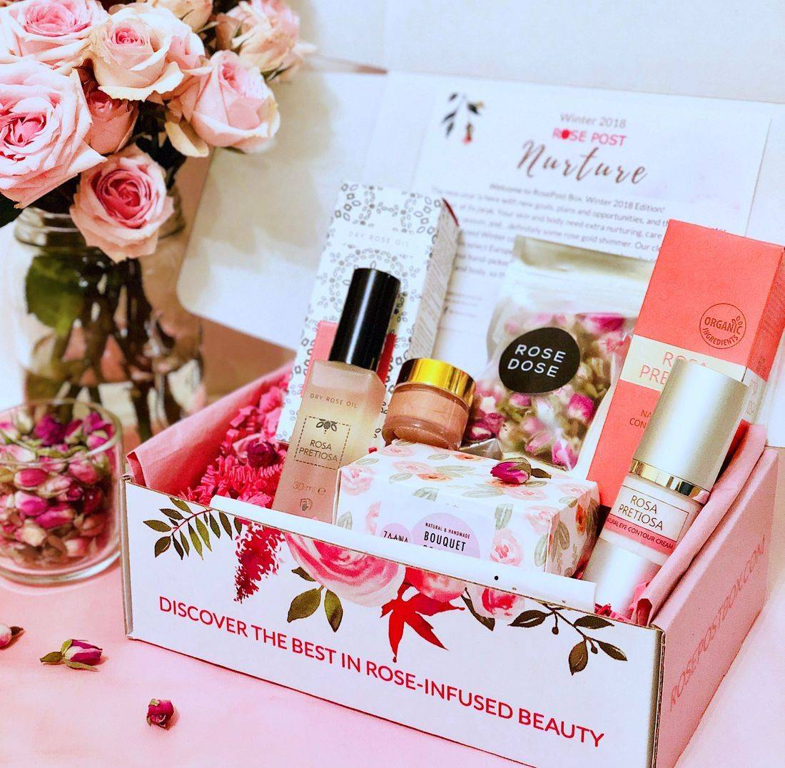 RosePost Box, Rosa Pretiosa Review, Natural Cosmetic, Rose-infused beauty, Bulgarian Rose Oil, clean rose beauty, eco beauty subscription box