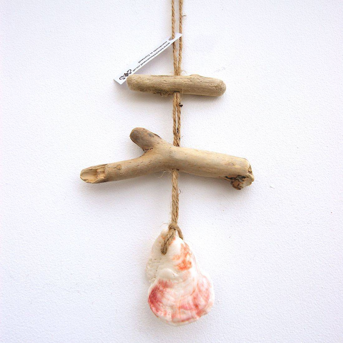 Driftwood and shell mobile 16
