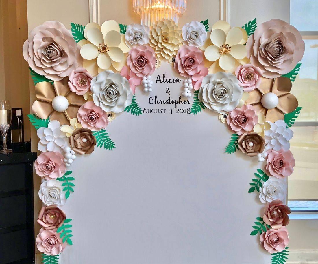 Wedding Paper Flower Backdrop Toronto