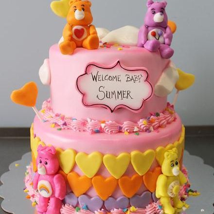 Custom Care Bears Hearts Cake Milwaukee