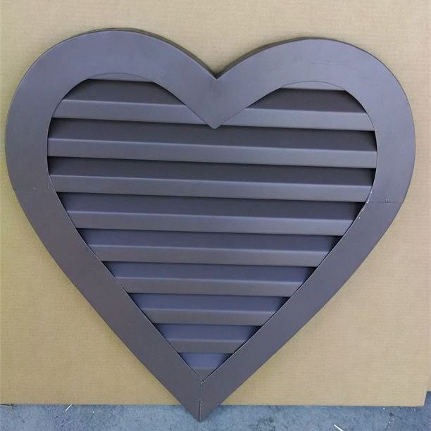 Heart shaped aluminum gable vent