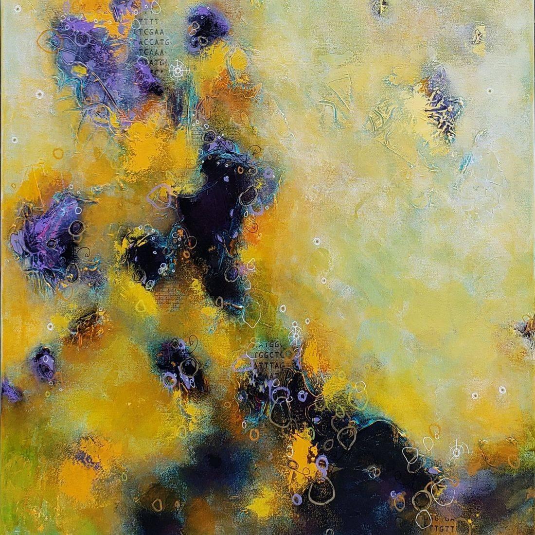 acrylic painting abstract contemporary art cosmos nebula sciart