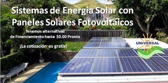 Paneles solares de energia - PUERTO RICO