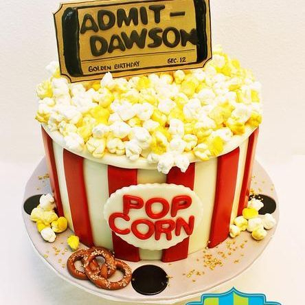Popcorn Bucket Movie Ticket Dimensional Cake Milwaukee