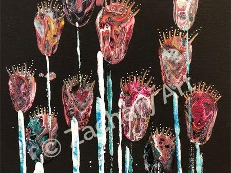 Flowers 1 Acrylic on Canvas 8x10