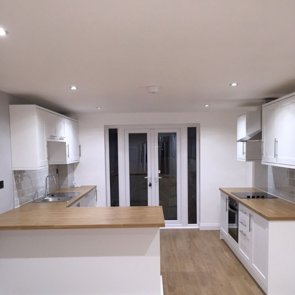 Spacious kitchen installed by A J Partnership