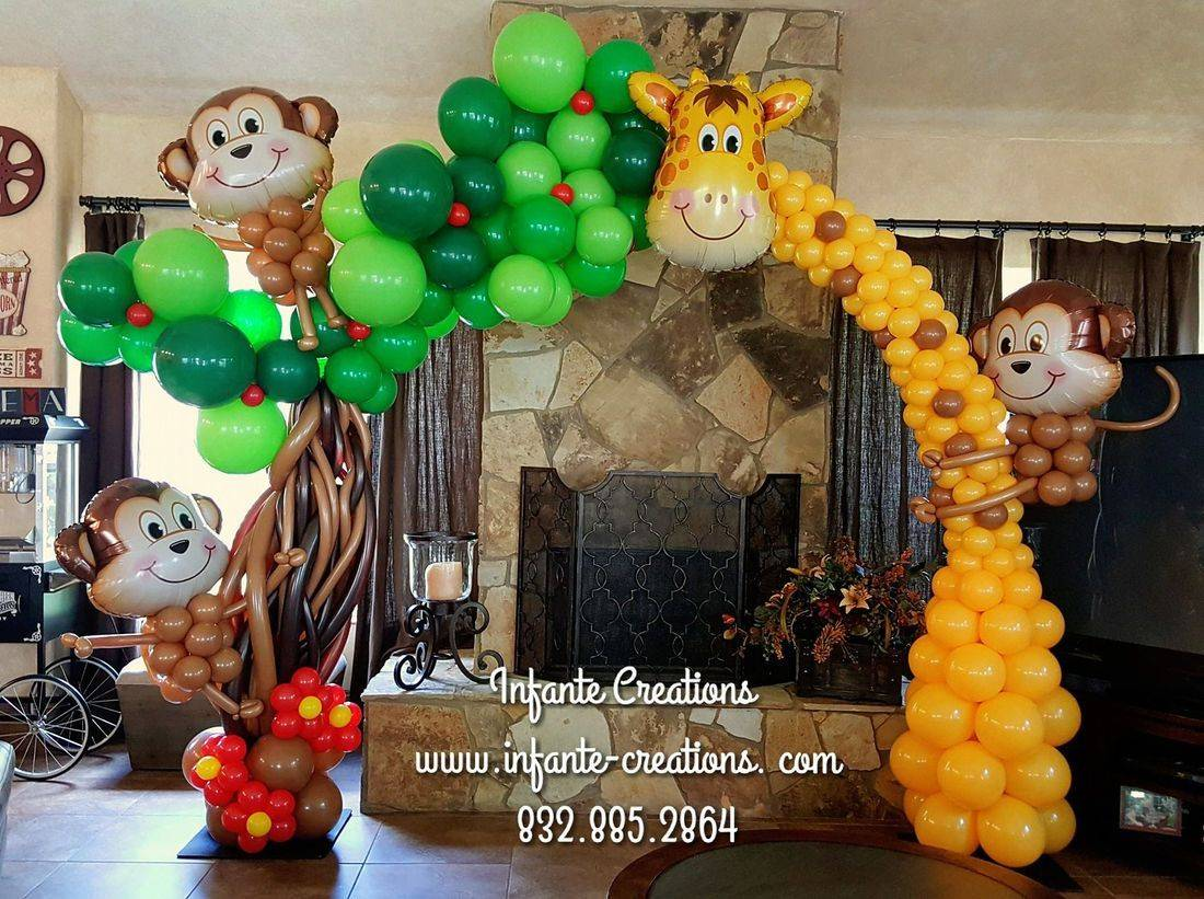 Houston Balloons, Balloon Arch, Safari, Party Balloons, Balloons, Decorations