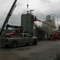 API 653 Welded steel process tank modification; installing new cone bottom in storage tank