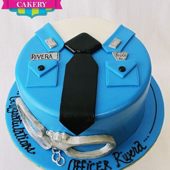 Custom Police Shirt Cake Milwaukee