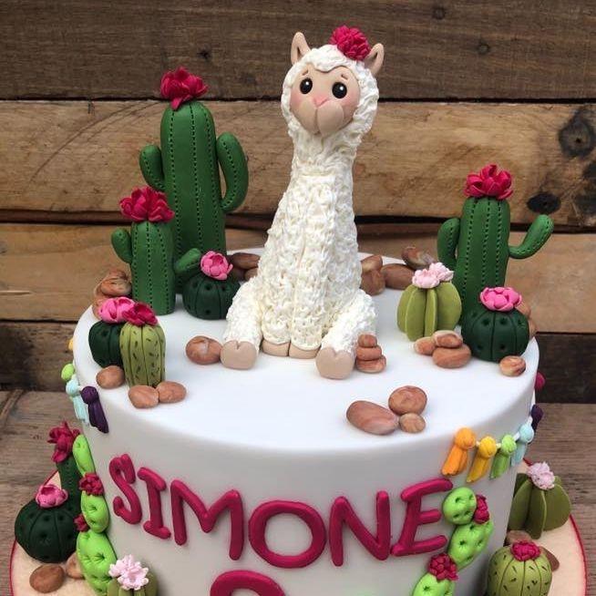birthday cake llama cactus cacti desert