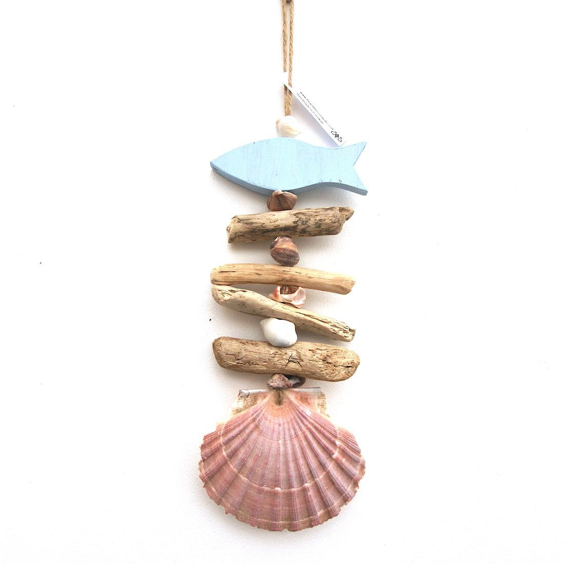 Driftwood and shell mobile 5