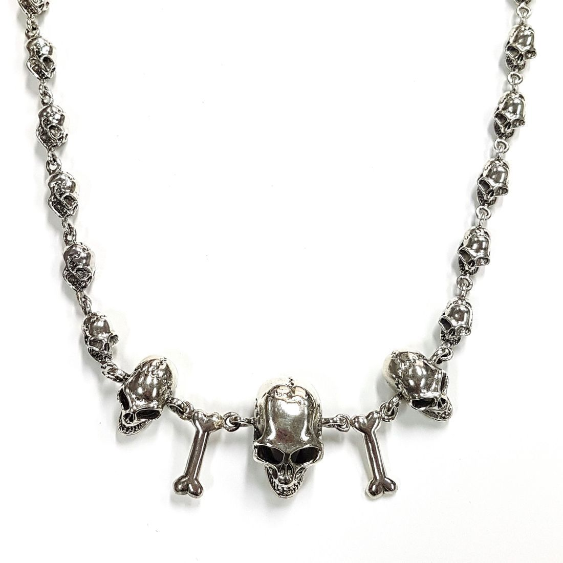 Solid Silver Skull & Bones Chain   available at Kazbah online and our Leicester City Centre Shop