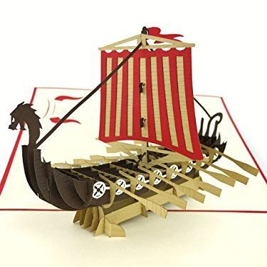 3D viking ship birthday card amazon
